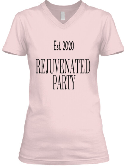 Rejuvenated Party Women's V-Neck Tee