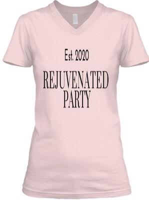 Rejuvenated Party Women's V-Neck Tee