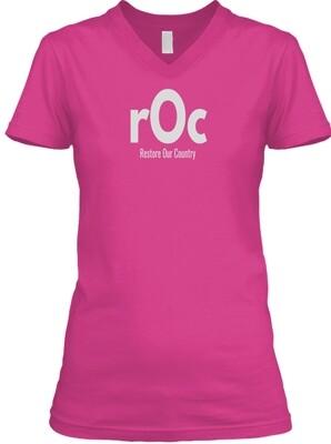 rOcfamily Women V-Neck Tee