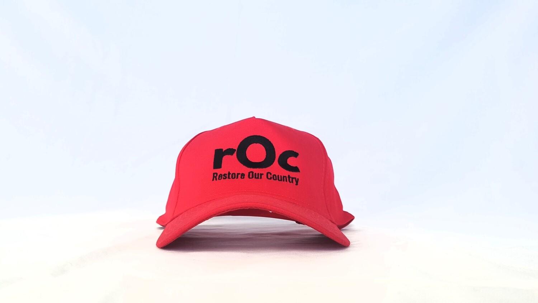 Red/Black Snapback rOc Cap