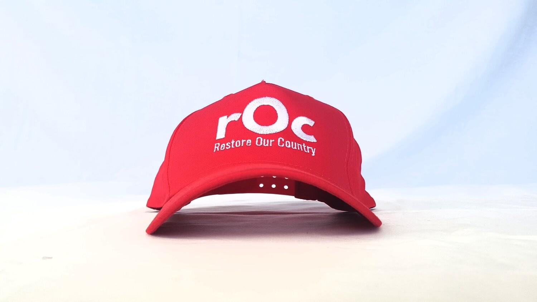 Red/White Snapback rOc Cap