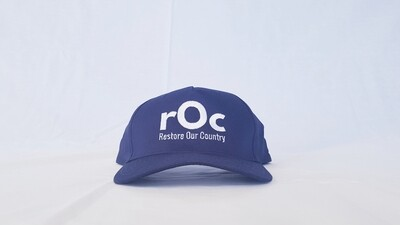 Navy/White Snapback rOc Cap
