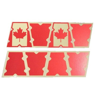 Canadian Red Helmet Tets (Set of 8)