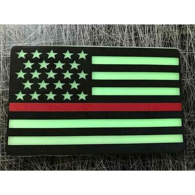 Subdued American Flag PVC Patches