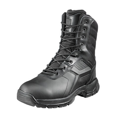 Battle OPS 8-inch Waterproof Tactical Boot - Side Zip Comp Safety Toe