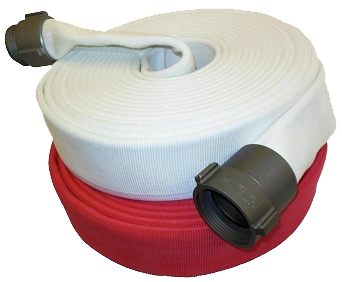 "2.5""x50' Double Jacket Fire Hose (2.5"" Alum NH Couplings)"