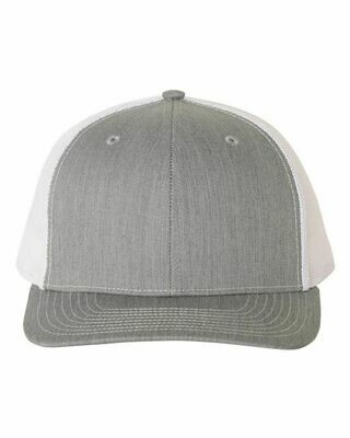 Patch Hat - Heather Gray/White