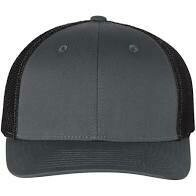 Fitted Patch Hat - Charcoal/Black