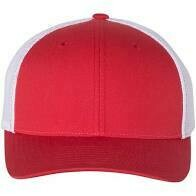 Fitted Patch Hat - Red/White