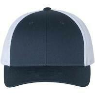 Fitted Patch Hat - Navy/White