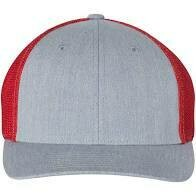 Fitted Patch Hat - Heather Grey/Red