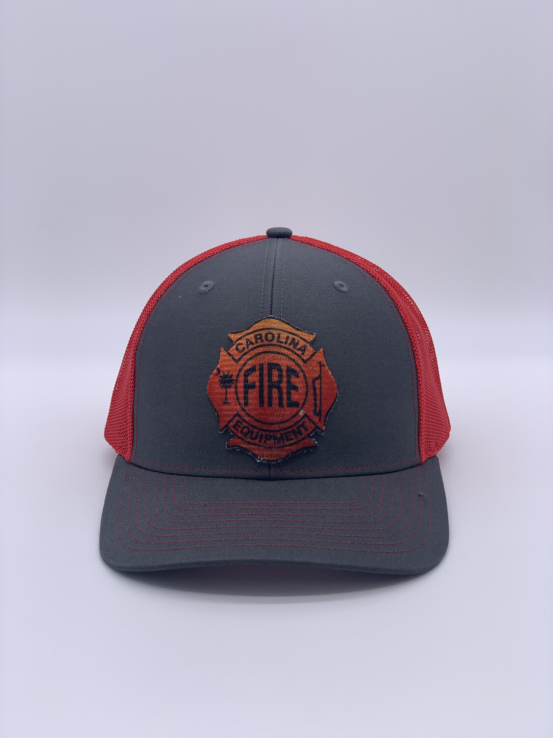 Patch Hat - Charcoal/Red