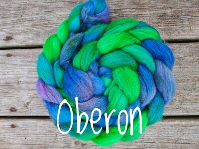 BFL and silk untreated fibre 140g braids