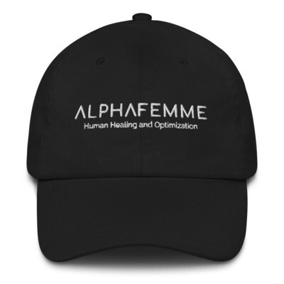 AlphaFemme Dad Hat (white lettering)