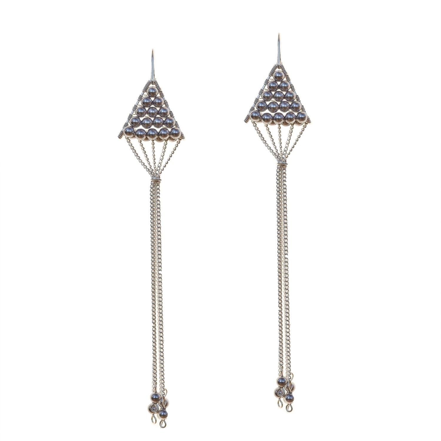 Triangulum Earrings Black Pearl