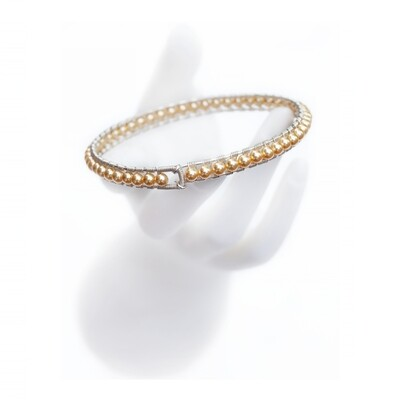 Gold Pearl Girdle Bangle by MANIA Jewels​