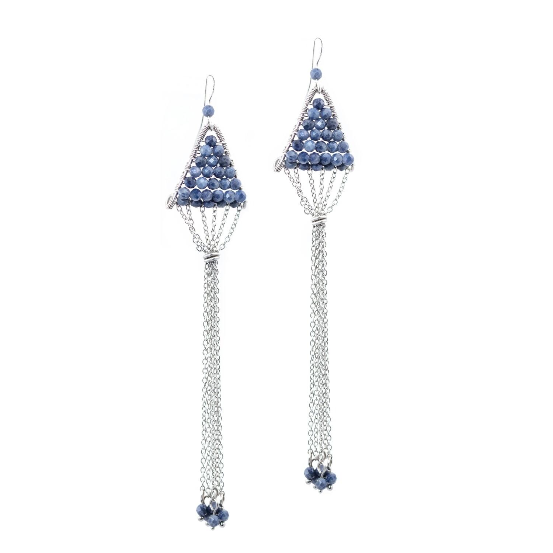 Sapphire´n´Steel Triangulum Earrings