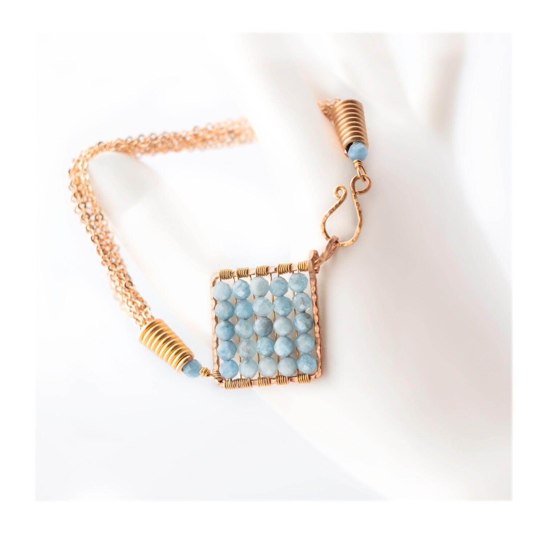 Jazzie Natural Blue Aquamarine Bracelet