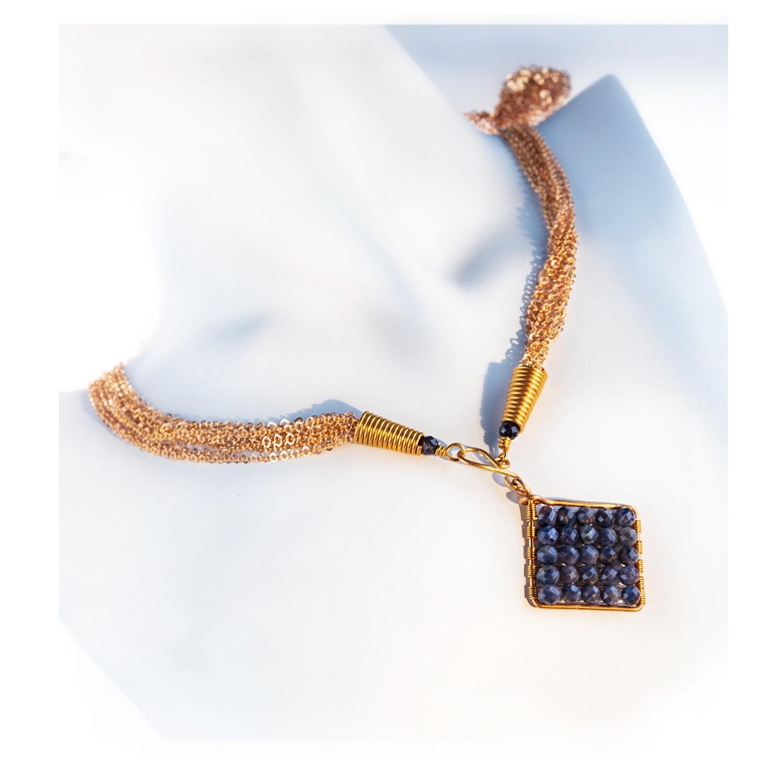 Jazzie Natural Blue Sapphire Necklace