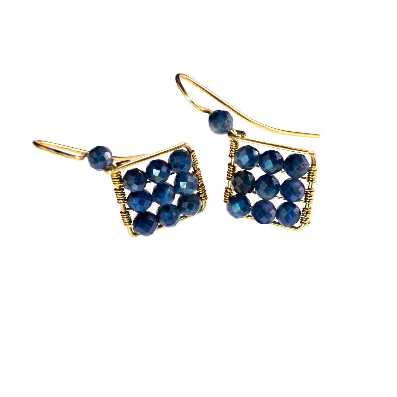Jaz Natural Blue Sapphire Earrings