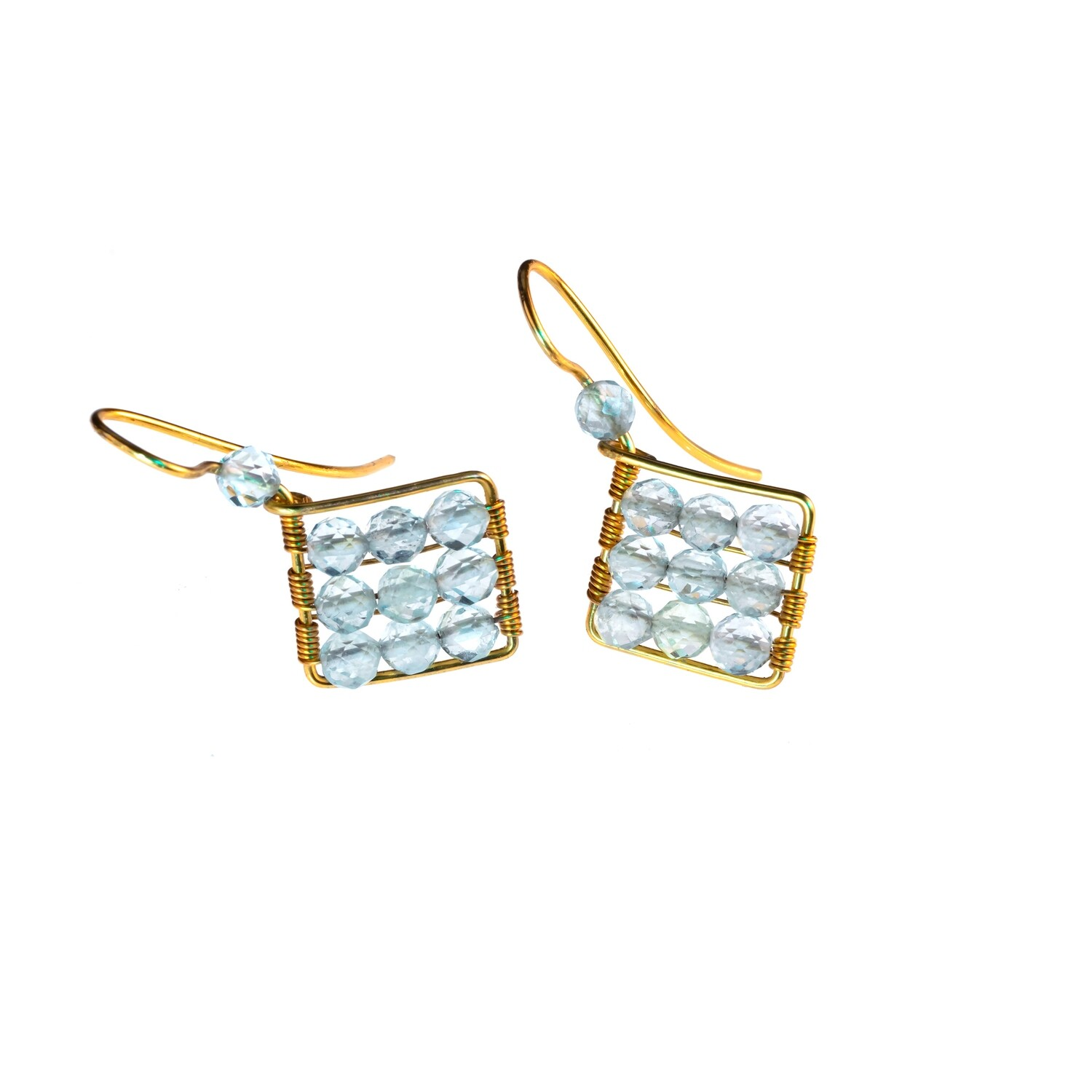 Jaz Natural Blue Aquamarine Earrings