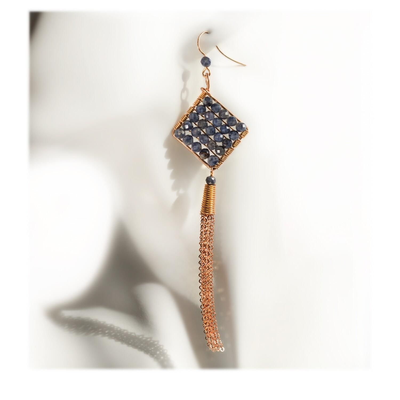 Jazzie Natural Blue Sapphire Earrings