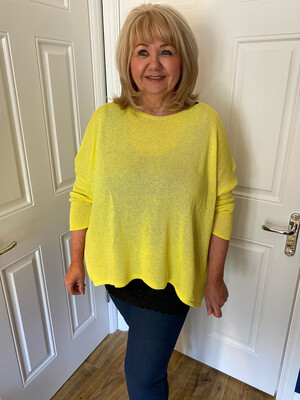 STAR SUMMER JUMPER NEON YELLOW