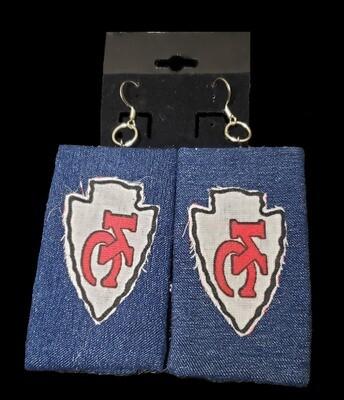 Chiefs Jean Earrings