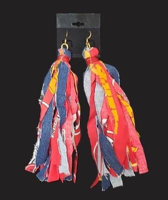 Chiefs Tassel Earrings