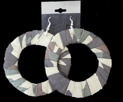 Camo Hoop Earrings
