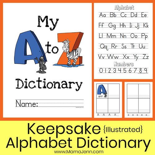 Alphabet Dictionary - Illustrated