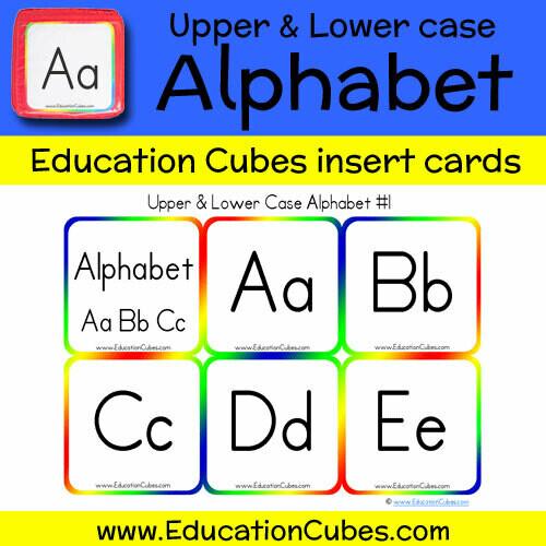 Uppercase & Lowercase Manuscript Alphabet