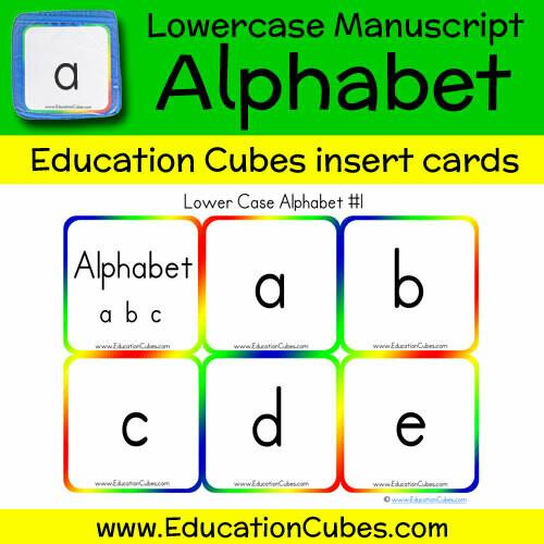 Lowercase Manuscript Alphabet (version 1)