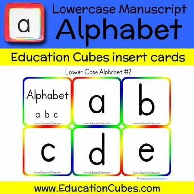 Lowercase Manuscript Alphabet (version 2)