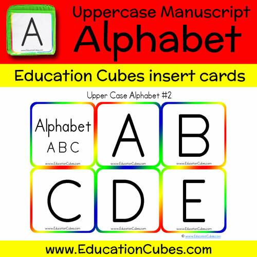 Uppercase Manuscript Alphabet (version 2)