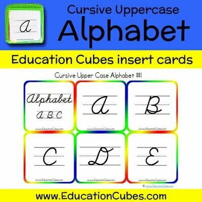 Cursive Uppercase Alphabet