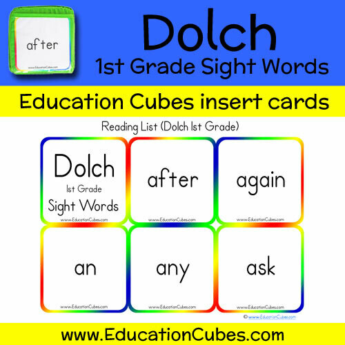 Dolch 1st Grade Sight Words