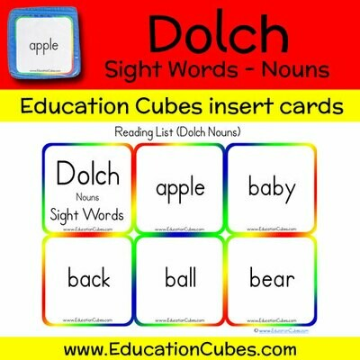 Dolch Sight Words - Nouns