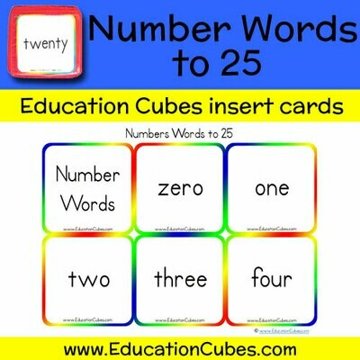 Number Words to 25