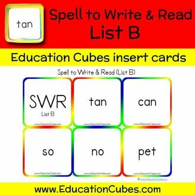 Spell to Write & Read List B