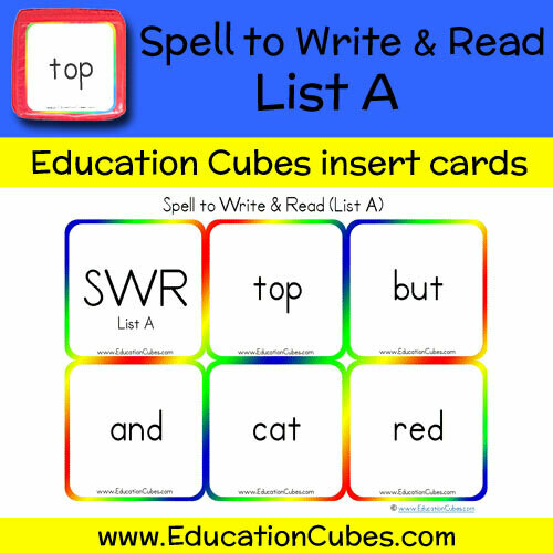 Spell to Write & Read List A