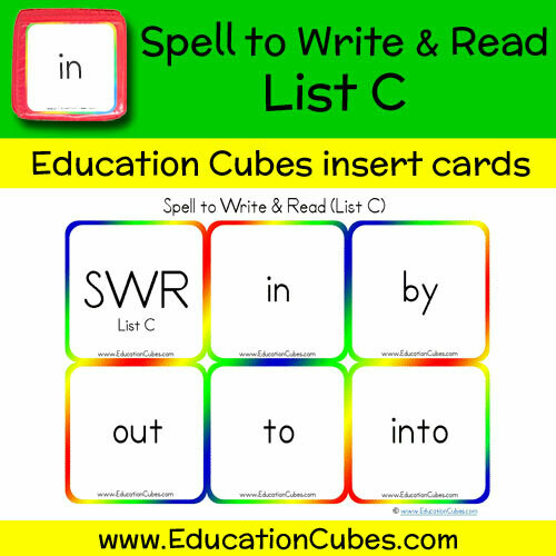 Spell to Write & Read List C