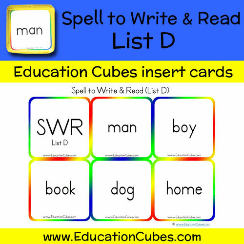 Spell to Write & Read List D
