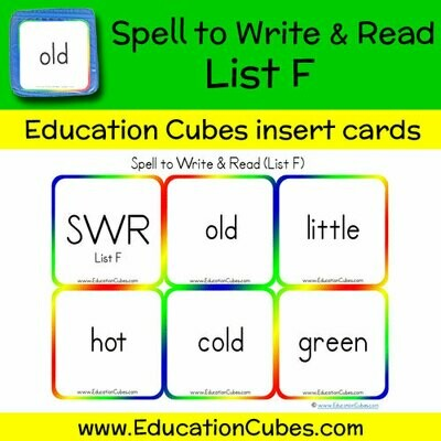 Spell to Write & Read List F