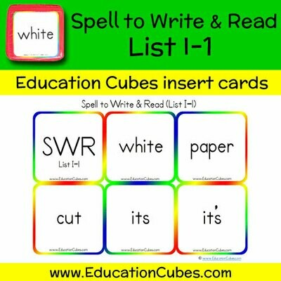Spell to Write & Read List I-1