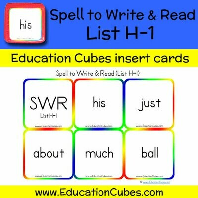 Spell to Write & Read List H-1