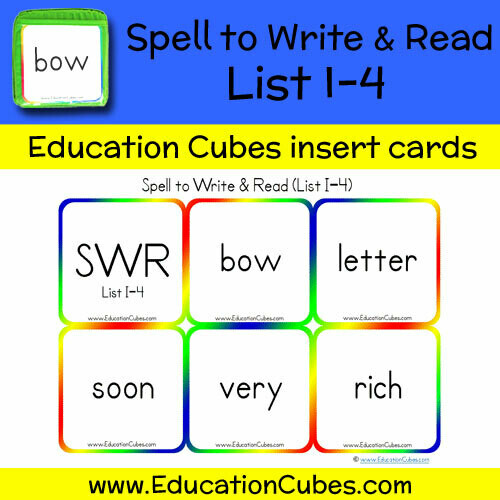 Spell to Write & Read List I-4