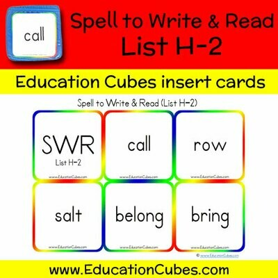 Spell to Write & Read List H-2