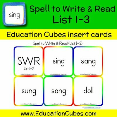 Spell to Write & Read List I-3