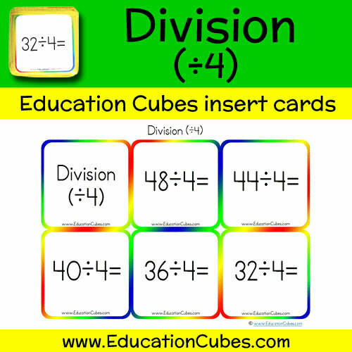 Division Facts (÷4)